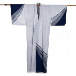 Yukata prestige en coton japonais pour femme GYOMÔ bleu