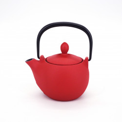 Japanese red cast iron teapot, Iwachu Meron 0.3 lt