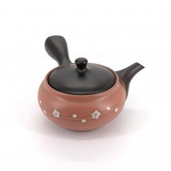 japanese kyusu teapot in terracotta tokoname SAKURA