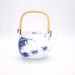 teiera blu kyusu giapponese tokoname in terra pennello AOHAKE