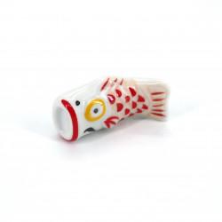 repose baguettes japonais en céramique poisson carpe, KOI, couleur au choix