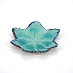 piccolo piatto giapponese a forma di foglio, MOMIJI, blu
