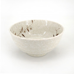 bol japonais blanc fleurs sakura HIWA