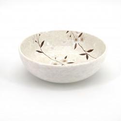 bol évasé japonais blanc fleurs de cerisier HIWA
