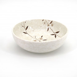 ciotola di zuppa giapponese in ceramica, HIWA, i fiori