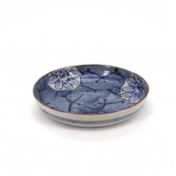 japanese noodle bowl, AOHANA, blue flowers