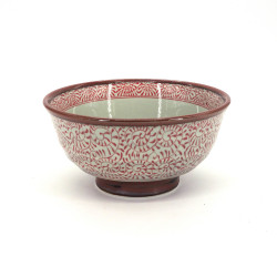 ciotola giapponese di ceramica per spaghetti, TAKO KARAKUSA, rosso