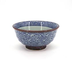 bol japonais pour ramen en céramique, TAKO KARAKUSA, bleu