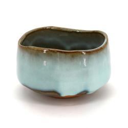 Japanese tea bowl for ceremony - chawan, MASHIKO, blue sky