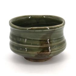 bol japonais à cérémonie du thé - chawan, SOUMA, vert