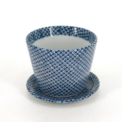 Copa japonesa de soba, SHIBORI, patrones azules