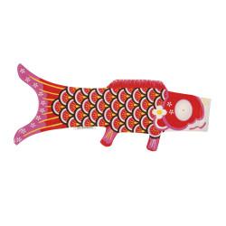 red koi carp-shaped windsock KOINOBORI AKAI
