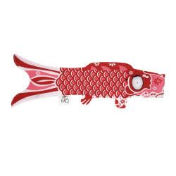 manche à air en forme de carpe koi rouge joyeux KOINOBORI JOY