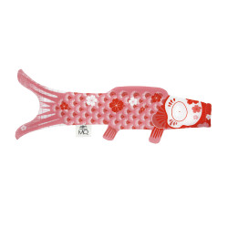 manche à air en forme de carpe koi rose KOINOBORI CORAL