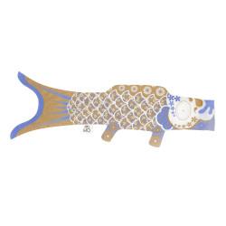 golden koi carp-shaped windsock KOINOBORI GOLD