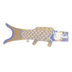 manche à air en forme de carpe koi dorée KOINOBORI GOLD