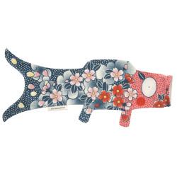 manche à air en forme de carpe koi rouge bleu KOINOBORI TATTOO SAKURA