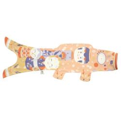manche à air en forme de carpe koi rose pâle KOINOBORI KOKESHI