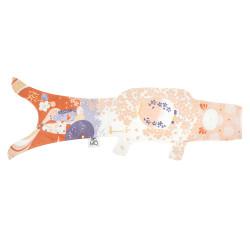 pale pink koi carp-shaped windsock KOINOBORI LANTERN