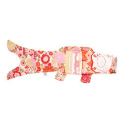 manga de viento en forma de carpa koi roja KOINOBORI KIMONO GIRL