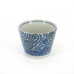 Tazza soba giapponese di ceramica, TAKO KARAKUSA, motivi blu