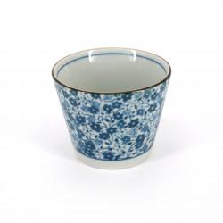 tasse soba japonaise en céramique KOHANA fleurs bleues