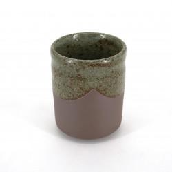 japanese black and grey teacup in ceramic KARATSU