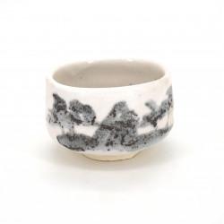bol japonais à cérémonie du thé, SHINOSANSUI, blanc
