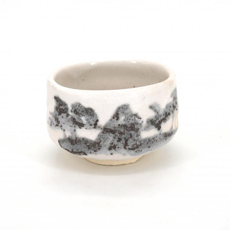 Japanese tea bowl for ceremony, SHINOSANSUI, white