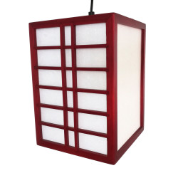 Japanese red ceiling lamp GURRIDDO