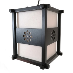 Japanese black ceiling lamp IDO