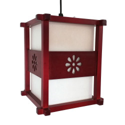 Lampada da soffitto giapponese rossa IDO