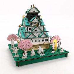 mini modello di cartone, OSAKA-JO, Castello di Osaka