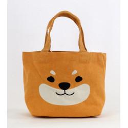 Japanese cotton tote bag, DOGHEAD, orange dog