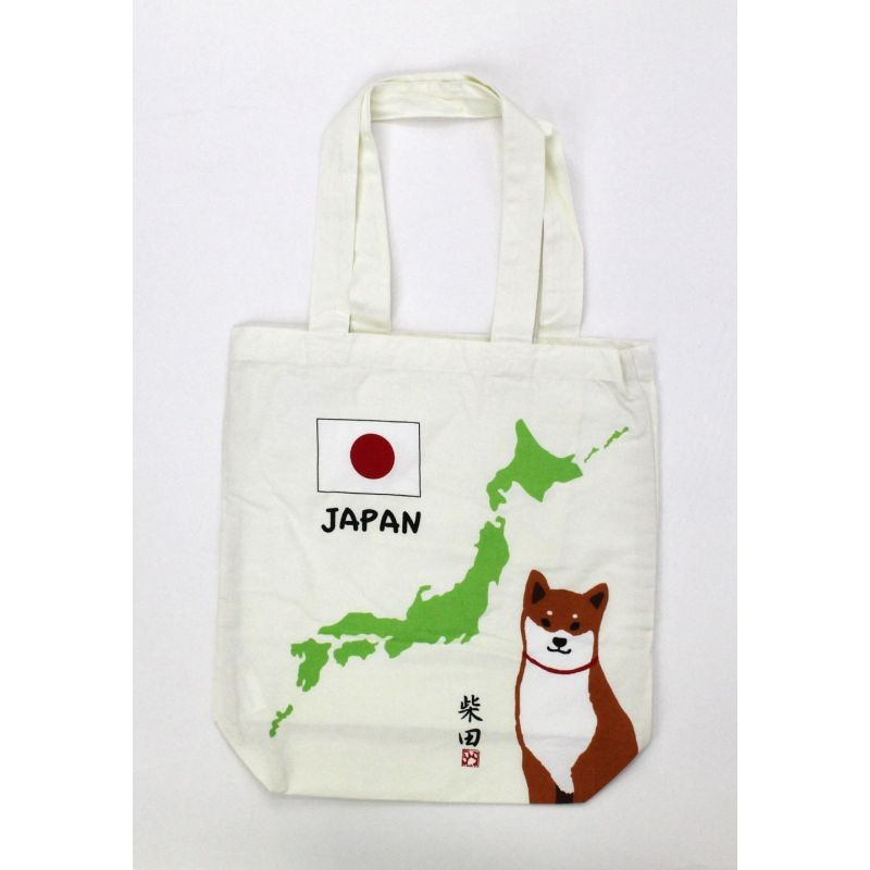 Borsa A4 size bag bianco in cotone giapponese, MAP, giappone