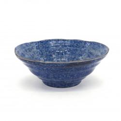 Japanese blue ramen noodles bowl BURU Ø18,3x7,5cm