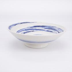ciotola blu e bianco di ceramica per spaghetti giapponesi UZUMAKI mullinello