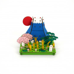 mini maquette en carton, FUJISAN, Mont Fuji
