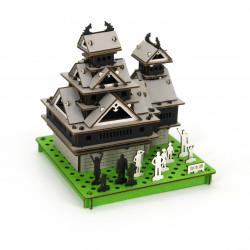 mini cardboard mockup, KUMAMOTO-JO, Kumamoto Castle