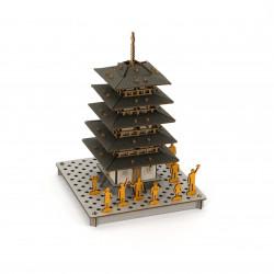 mini maquette en carton, TO, Pagode à 5 étages