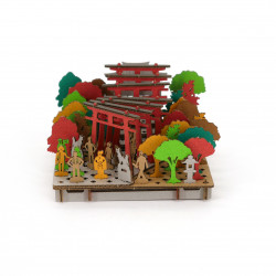 mini cardboard mockup, INARI, Sanctuary of Inari