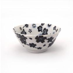ciotola giapponese per spaghetti ramen di ceramica SAKURA, nero e bianco