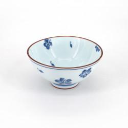 piccola ciotola di riso giapponese blu in ceramica, SAKURA fiori