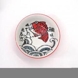 ciotola giapponese per spaghetti ramen di ceramica OOTSURI, pesce rosso