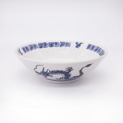 ciotola giapponese per spaghetti ramen di ceramica drago RYU, blu