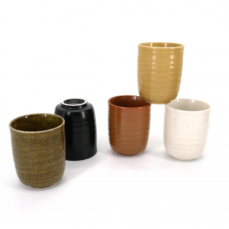 set of 5 Japanese Mugs ZEN