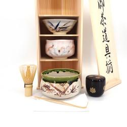 ensemble à cérémonie du thé en céramique 5 pièces, SADO, PRESTIGE 5 pcs