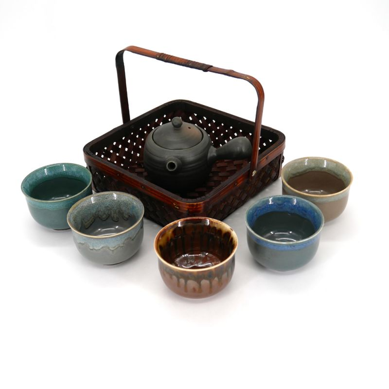 Japanese tea set with 1 teapot and 5 cups 6 pieces PRESTIGE