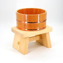 ensemble de toilette en bois, SENTO, tabouret et bassine