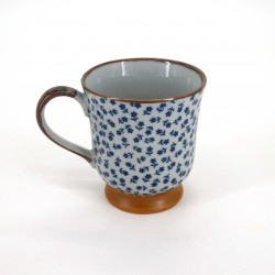 Japanese ceramic tea mug flower